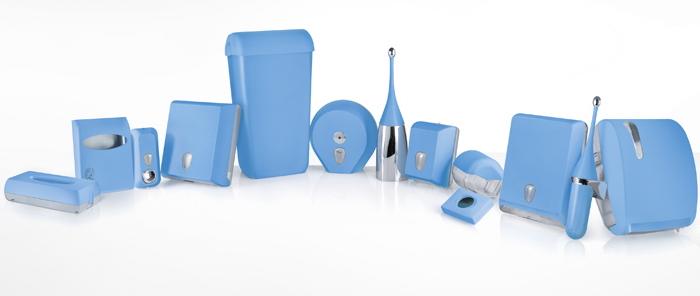 Accessori bagno di colore blu