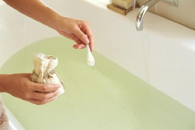 Bagno a base di avena