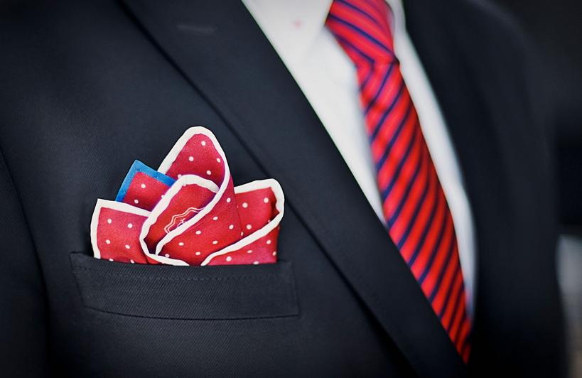 Abbinamento cravatta e pochette