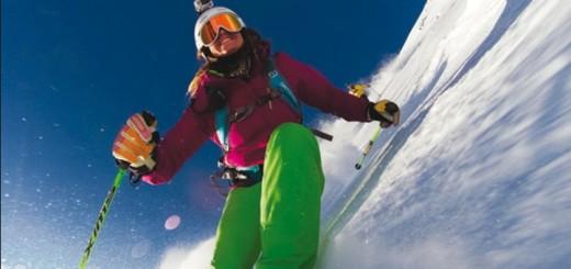 Sciatrice con GoPro